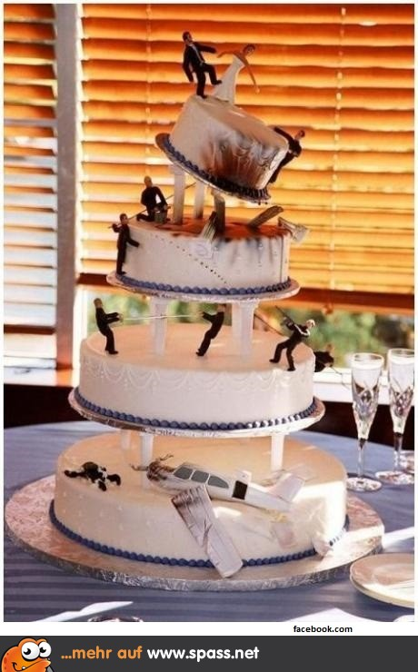 Hochzeitstorte lustig