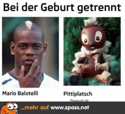 Balotelli und Pittiplatsch bei der Geburt getrennt