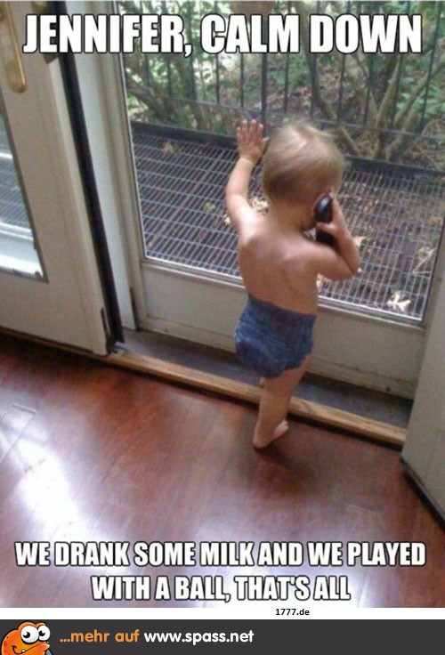 Baby mit Telefon