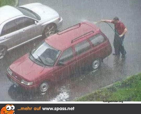 lustig im regen