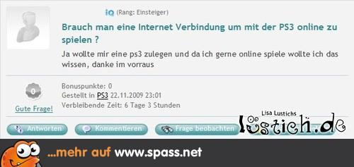 Braucht man Internet für Online-Spiele?