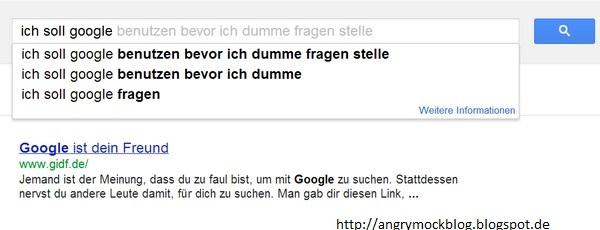 Dumme Fragen bei Google