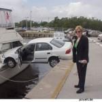 Frau hat falsch geparkt