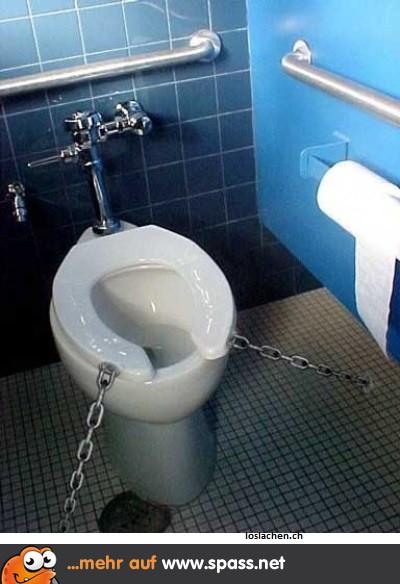 Gesicherte Toilette