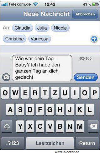 Gruppen-SMS für Geliebte