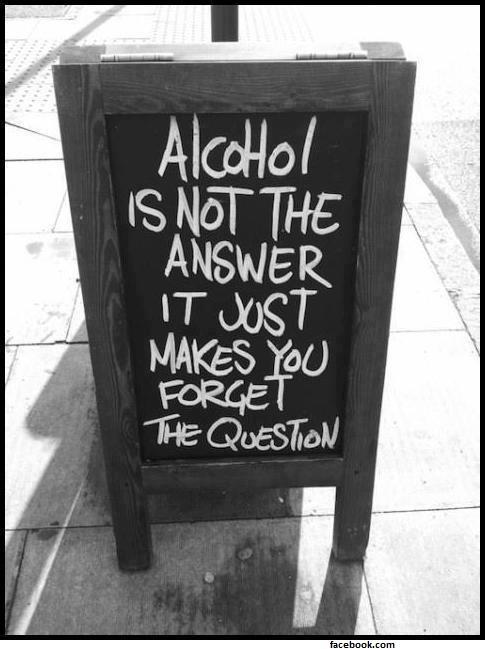 Schild zu Alkoholkonsum