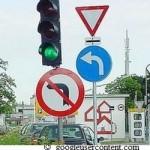 Verkehrsschilder Wirrwarr