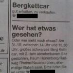 Lustige Zeitungsanzeigen