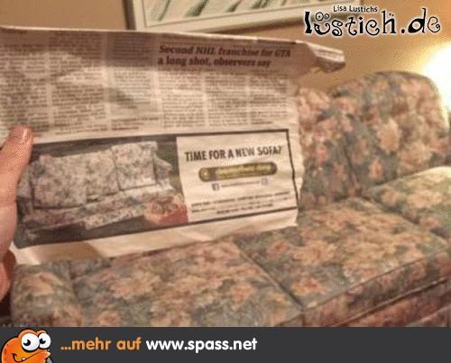 Zeit Fur Ein Neues Sofa Lustige Bilder Auf Spass Net