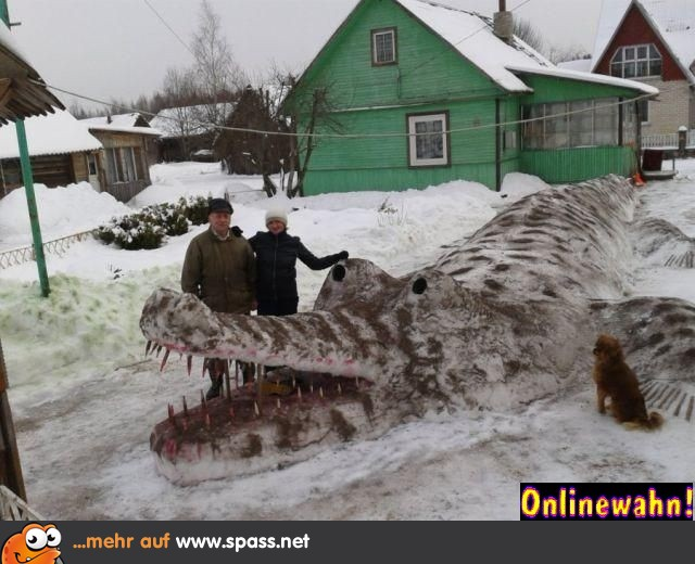 Gefährliches Wintermonster | Lustige Bilder auf Spass.net