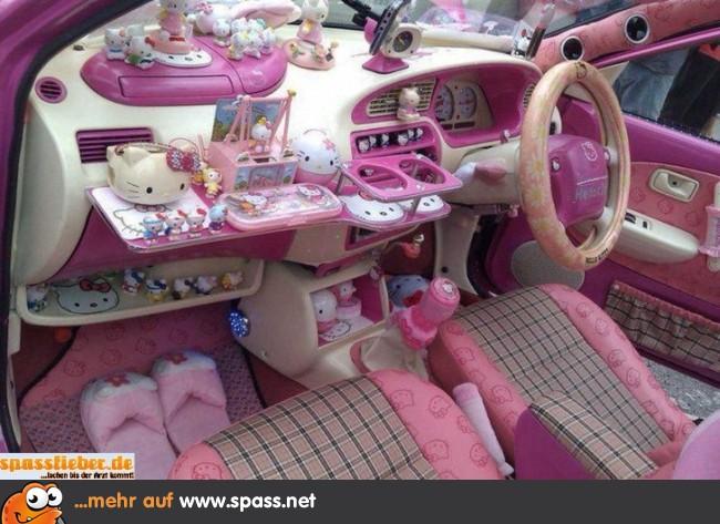 Hello Kitty Auto Lustige Bilder Auf Spass Net