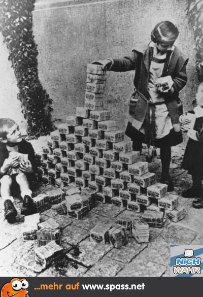 Papiergeld Inflation Kinder