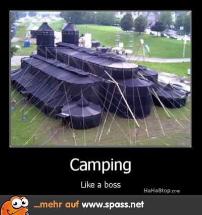Campen im großen Stil