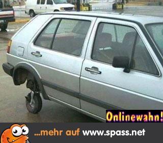 Auto mit Ersatzrad
