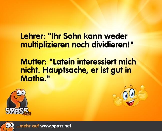 Lieber Mathe Als Latein Lustige Bilder Auf Spassnet