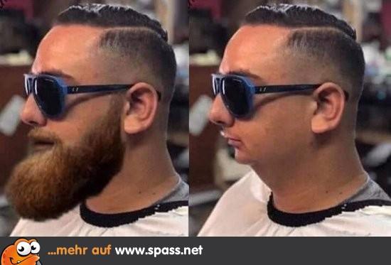 Warum manche Männer Bart tragen | Lustige Bilder auf Spass.net