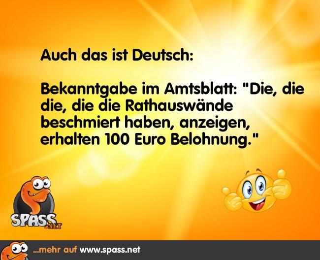 Deutsche Sprache, schwere Sprache | Lustige Bilder auf
