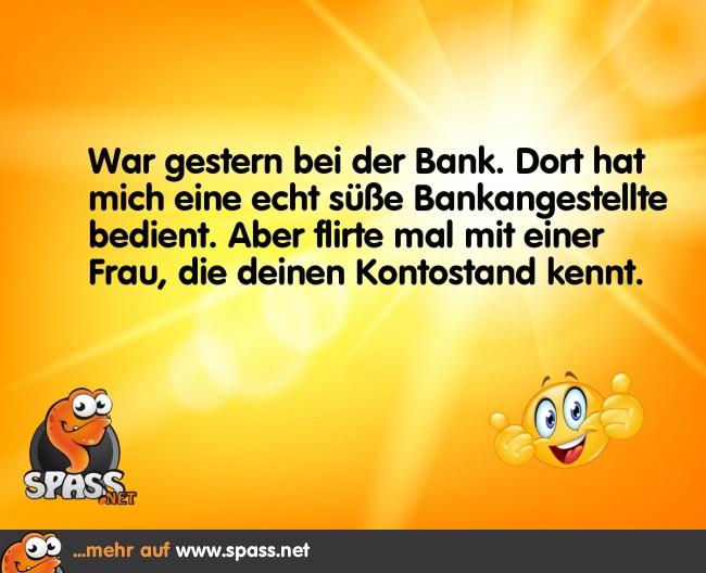 Der Bank-Flirt   Lustige Bilder auf Spass.net